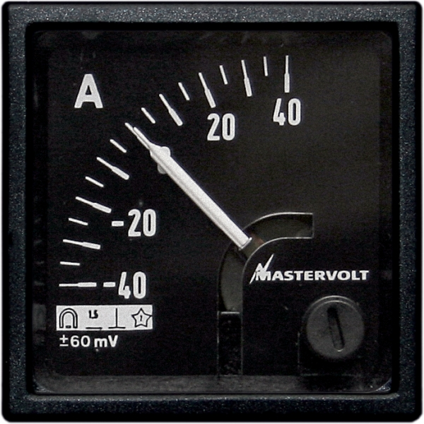 Amps meter 40-0-40 A DC