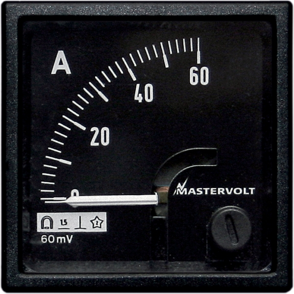Amps meter 60-0-60 A DC