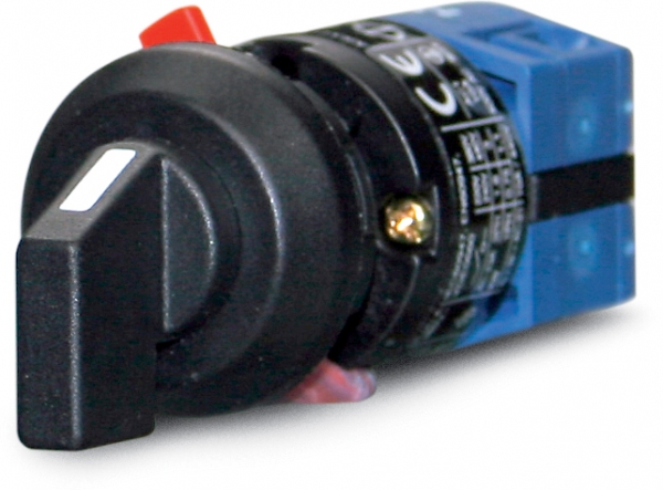On/off rotary switch, double pole 0-1, 10 A