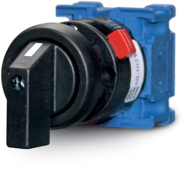 On/off rotary switch, single pole 0-1, 20 A