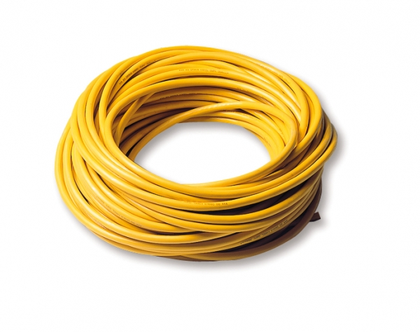Yellow moulded oil resistant, 3x 4 mm², per metre