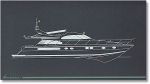 Mimic panel standard model M-1-NL (for motor yacht panel) (series 1)