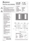 Verteilungspanel-Rahmen B-1-AD (DC) (für 10 Sicherungen) (einpolig) (AD1)
