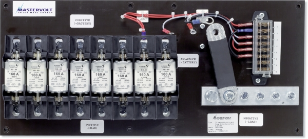 DC Distribution System 8 industrial fuses (open version)