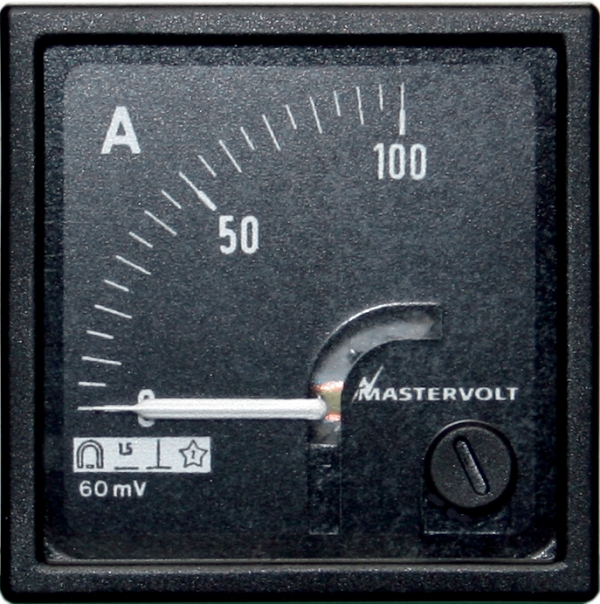 Amps meter 0-100 A DC