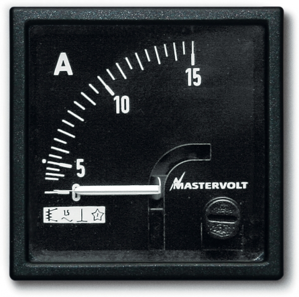 Amps meter 0-15 A DC (direct)