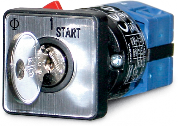 Key switch, single pole 0-1-(2), 10 A