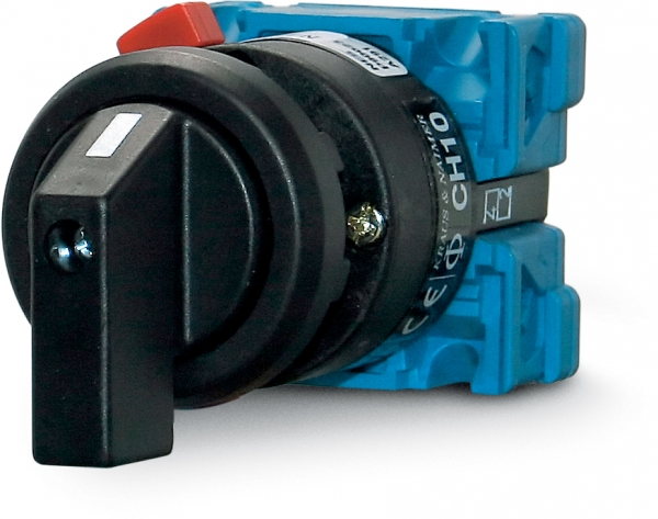 On/off rotary switch, double pole 0-1, 20 A