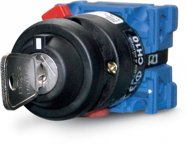 Selector rotary switch, double pole 1-2, 10 A