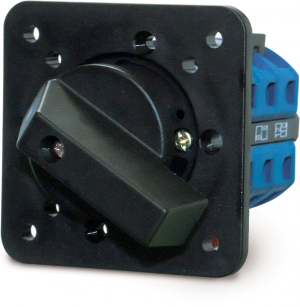 Selector rotary switch, double pole 1-2, 25 A
