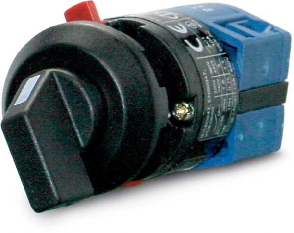 Selector rotary switch, single pole 1-2, 10 A