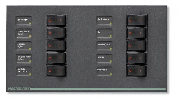 Panneau CA B-1-AA pour 10 disjoncteurs, 1p, AD1