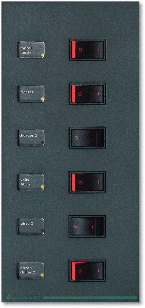 Panneau CA B-0-AA2 pour 6 disjoncteurs, 2p, AD2