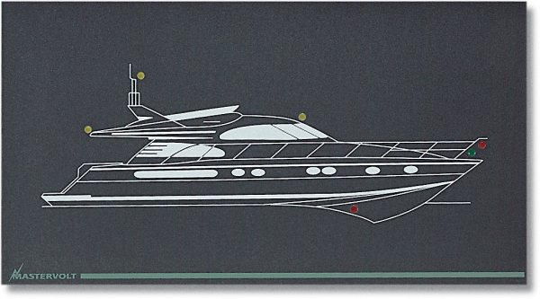 Mimic panel custom specified (for motor yacht) (series 1)