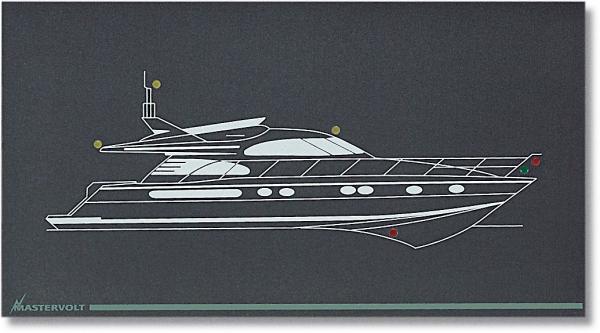 Mimic panel standard model M-1-NL (for motor yacht panel) (series 1)