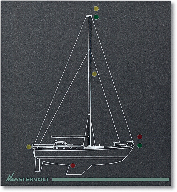 Mimic panel standard model M-2-NL (for sailing yacht panel) (series 2)