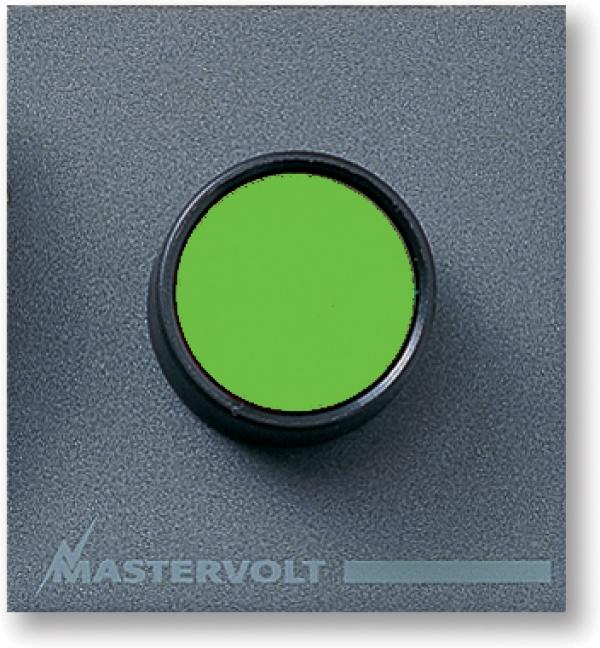 Green push button, 10 A (series 4)