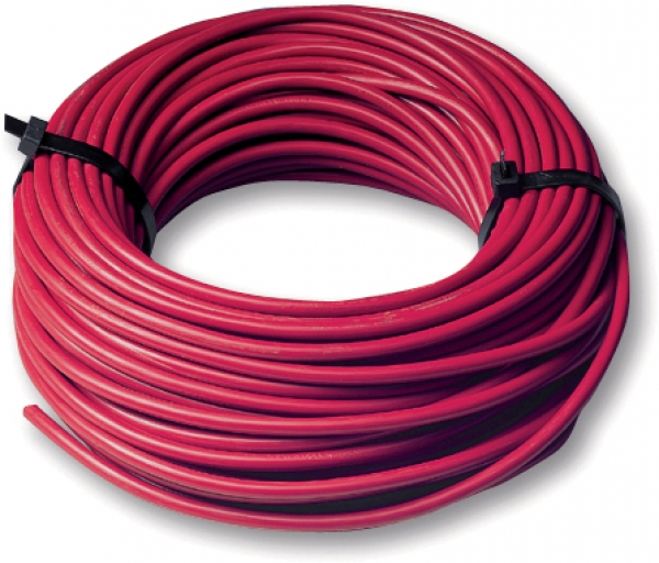 Installation cable red 25 mm²