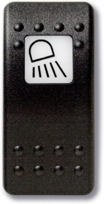 Botones de control con leyenda iluminada
