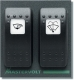 Panel S-4-F2 for 2 function switches (10A) series 4